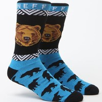 Neff Bear Crew Socks - Mens Socks - Blue - One