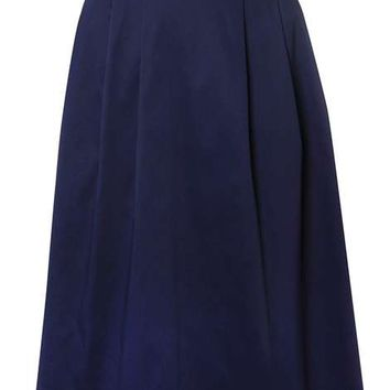 Navy Full Skirt