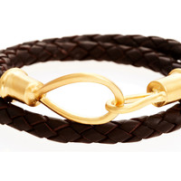 Leather Wrap Bracelet, Chocolate, Other Necklaces