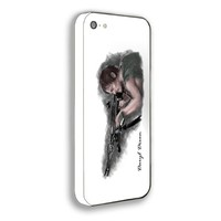 Daryl Dixon The Walking Dead Sketch for Iphone 5 Case (Iphone 4/4s white)