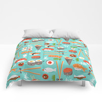 Happy Sushi Comforters by Heather Dutton