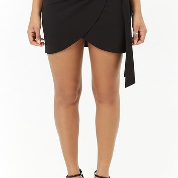 Oh My Love Mock-Wrap Mini Skirt
