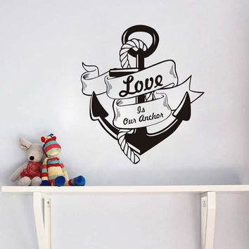 Love Anchors Soul Wall Sticker Motivational Quote Room Decor Waterproof Art Vinyl Words Letters Wall Decals Home Decor