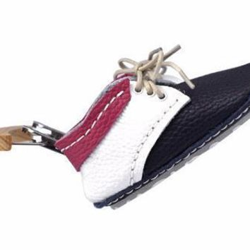 BC SPBEST First Baby Shoes SUSU model - Navy Blue/White/Pink  Made in Poland
