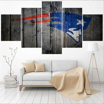 Sport New England Patriots Logo Paintings Wall Art Home Decor Picture Canvas Painting Calligraphy For Living Room Bedroom
