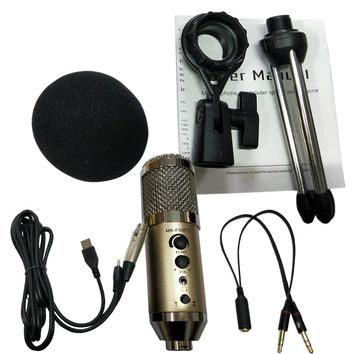 MK-F500TL Studio Microphone USB Condenser Sound Recording Add Stand free Driver For Mobile Phone Computer Update MK-F200TL