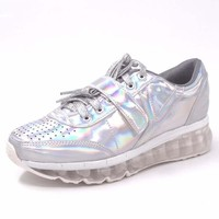 Silver Running Sneakers