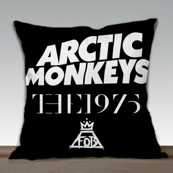 Arctic Monkeys the 1975 The Fall Out Boy  - Pillow cover