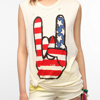 UNIF X UO Rock USA Muscle Tee