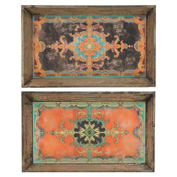 Asst. of 2 Moroccan Trays, Decorative Trays
