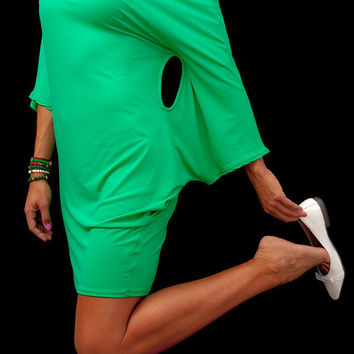 Dress / Green Off the Shoulder Dress / Hoodies for Women / Evening Dresses / Cotton Maternity Gown / Loose Casual Tunic / Kaftan/ Plus Sizes