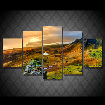 Rolling Hills Of Beauty 5-Piece Wall Art Canvas