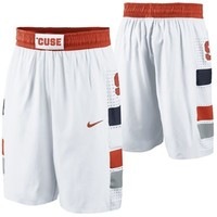 Mens Syracuse Orange Nike White Replica On-Court Basketball Shorts