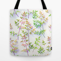 Leaves in the Light Tote Bag by Micklyn