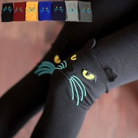 Cat Face Winter Hot Leggings Pants