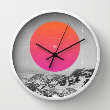 Middle Of Nowhere I Wall Clock by Soaring Anchor Designs