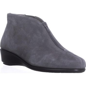 Aerosoles Allowance Wedge Ankle Boots, Dark Gray Suede, 8 W US