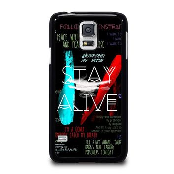 TWENTY ONE PILOTS STAY ALIVE Samsung Galaxy S5 Case Cover