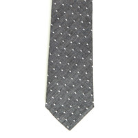 Soft Black Chambray Mini Dot Tie