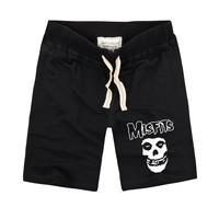 The MISFITS shorts High Quality Summer Fashion Skull Printed Men's Casual Sport Shorts Cotton Short Pants Plus Size S-3XL