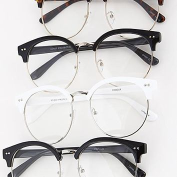 Top Frame Clear Glasses