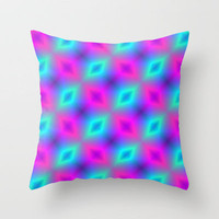 Neon Glow Throw Pillow by Alice Gosling | Society6