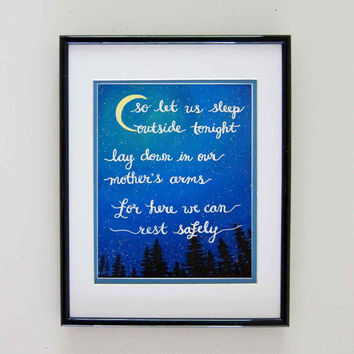 Instant Download Painting Print Quote Art Dave Matthews Band - Wanderlust Camping Art - DMB Lyric Art - Inspirational Quotes Music Art Print