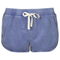 Side Step Runner Shorts - Washed Blue