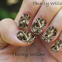 Camo BoneYard Full Wrap Nail Decals