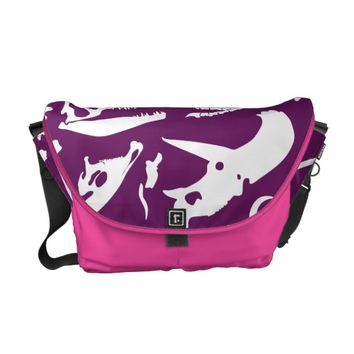Dinosaur Bones (Purple) Courier Bag