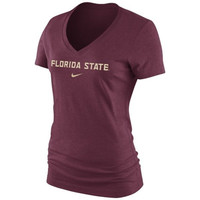 NCAA Florida State Seminoles Nike Women's Arch Mid V-Neck T-Shirt