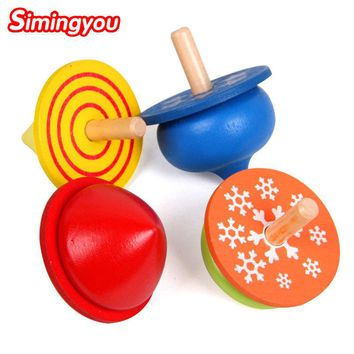 Simingyou Learning Education 4 Models 4Pcs/Set Four-color Small Gyro Toys Wooden Montessori Toys B40-RB1116 Drop Shipping