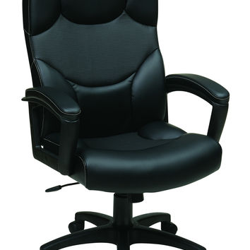 Work Smart™ Black Bonded Leather Office Chair
