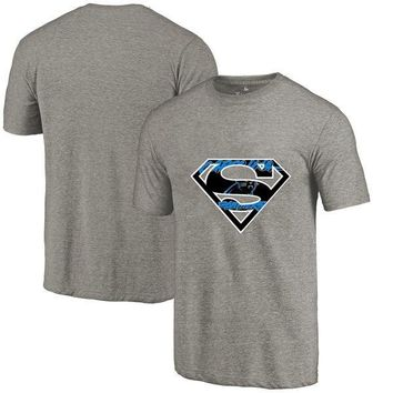 New Design Men's Summer Fashion Panthers Fans T-Shirt, Carolina Tees Superman S Logo Picture Print Classical O-neck T Shirts