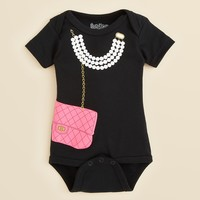 Sara Kety Infant Girls' Necklace & Purse Bodysuit - Sizes 0-18 Months