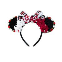 Painting the Roses Red Mouse Ears Headband, Wonderland Mouse Ears, LED Headband, Alice Ears, Queen of Hearts Ears, Minnie Ears Headband