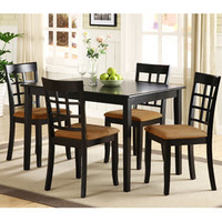 Walmart: Lexington 5-Piece Dining Table Set with Window-Back Chairs, Black