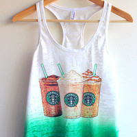 Cute Starbucks Tie Dye Tank Top