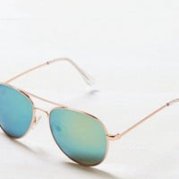 AEO Women's Mirrored Aviator Sunglasses
