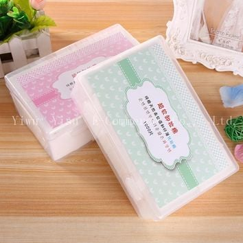 50set Cosmetic  Facial Cotton Pads Disposable Makeup Wipes Nail Wipe Cotton Swab Box Eye May Pumping Remover Cleansing Pads