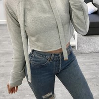 JC Crop Sweater (Grey)