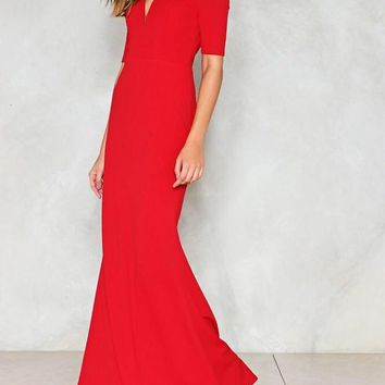 Heart Throb Off The Shoulder Maxi Length Gown