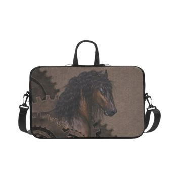 Personalized Laptop Shoulder Bag Steampunk Horse Macbook Pro 17 Inch