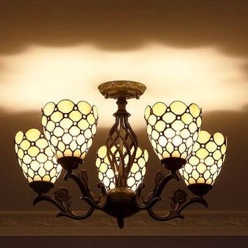 FUMAT Stained Glass Chandeliers