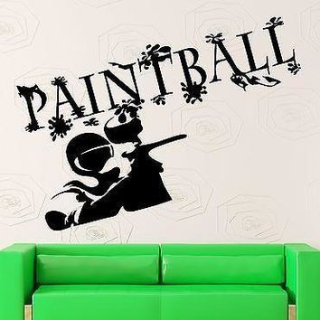 Wall Stickers Paintball Sports Entertainment Fun Vinyl Decal Unique Gift (ig2435)