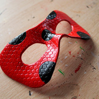 Miraculous Ladybug leather mask - Made to Order