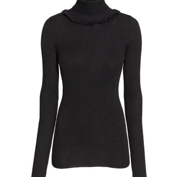 H&M Ruffled Turtleneck Sweater $9.99