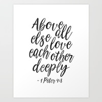 Above All Else Love Each Other Deeply,Christian Print,Scripture Art,Bible Verse,Scripture Art,bible Art Print by Printable Aleks