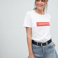 Boohoo Woman Slogan T-Shirt at asos.com