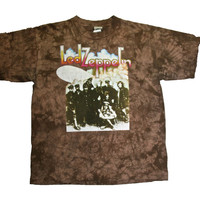 Retro Led Zeppelin Bleached Band Shirt Mens Size Large - Default Title